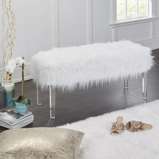 Everly Linwood Fur Storage Bench Quinn