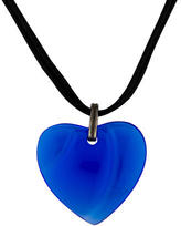 Baccarat Blue Heart Crystal Necklace