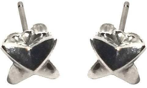 Tiffany & Co. Peretti 925 Sterling Silver & 14K White Gold Sirius Star Earrings