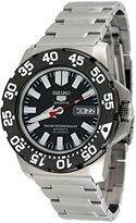 Seiko Men's 5 Automatic SNZF51K Silver Stainless-Steel Automatic Watch with Dial