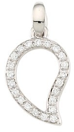 Tamara Comolli Signature Wave 18K White Gold & Diamond Pave Small Pendant