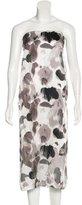 Helmut Lang Floral Silk Dress