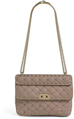 Valentino Garavani Medium Leather Rockstud Spike Shoulder Bag