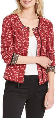 Nic+Zoe Check Mate Reversible Knit Jacket