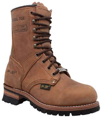 """AdTec Women 9"""" Steel Toe Logger Boot Women Shoes"""