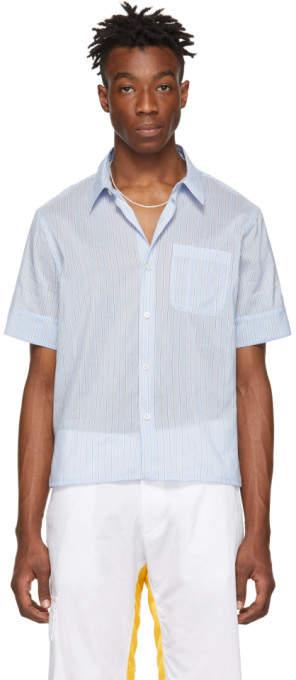 Wales Bonner Blue Pocket Short Sleeve Shirt