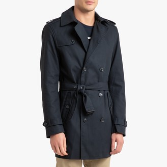 La Redoute Collections Waterproof Cotton Trench Coat with Double-Breasted Buttons and Pockets