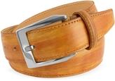 Pakerson Men's Ocher Hand Painted Italian Leather Belt
