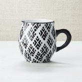 Crate & Barrel Quatrefoil Mug