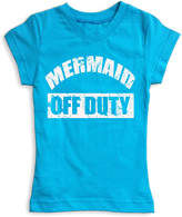 Urban Smalls Turquoise 'Mermaid Off Duty' Fitted Tee - Toddler & Girls