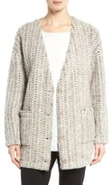 Eileen Fisher Roving Wool Blend Sweater Jacket