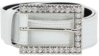 Alessandra Rich 30mm Croc Embossed Leather Belt