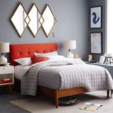 west elm Mid-Century Button-Tufted Bed – Cayenne