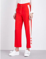 Mo&Co. Piped detail jersey jogging bottoms