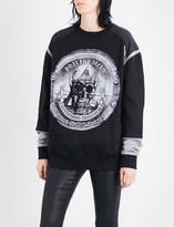 Philipp Plein Cashflow King stretch-cotton sweatshirt