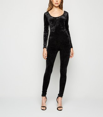 New Look Velvet Long Sleeve Jumpsuit