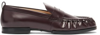 Tod's Gathered Leather Penny Loafers - Burgundy