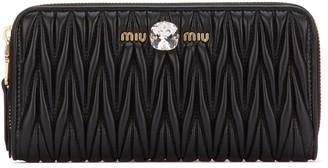 Miu Miu Matelasse Zipped Wallet