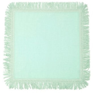 Peter Pilotto Once Milano - X Fringed Linen Napkin - Light Green