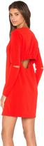Tibi Slim Shirred Panel Dress