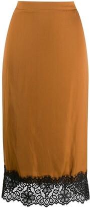 Essentiel Antwerp Lace-Trimmed Pencil Skirt