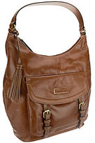 Tignanello As Is Distressed Leather Hobo w/ Buckle Accents