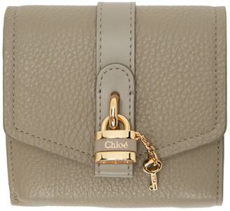 Chloé Grey Aby Square Wallet
