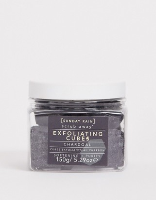 Sunday Rain Exfoliating Cubes Charcoal