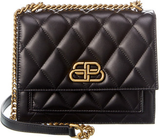 Balenciaga Sharp Small Quilted Leather Shoulder Bag