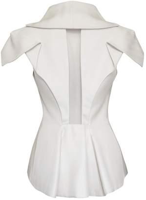 Alexander McQueen Beige Silk Jackets