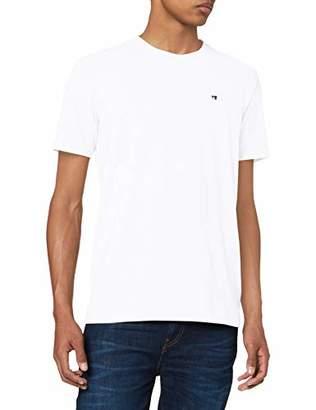 Scotch & Soda Men's Nos Cotton Elastane Crewneck Tee T-Shirt, (White 00), Large