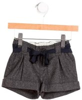Bonpoint Girls' Pleated Wool Shorts