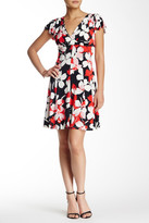 London Times Flat Blossom Fit & Flare Dress (Petite)