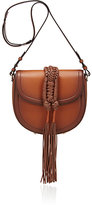 Altuzarra Women's Ghianda Knot Small Saddle Bag-TAN