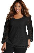 ING Trendy Plus Size Lace Top