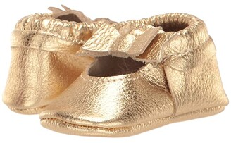 Freshly Picked Gold Ballet Flat Bow Mocc (Infant/Toddler) (Gold) Girl's Shoes