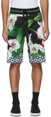 Dolce & Gabbana Multicolor Orchid Jogging Shorts
