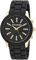 Steve Madden Women's Quartz -Tone and Alloy Casual Watch, Color:Black (Model: SMW077G-BK)