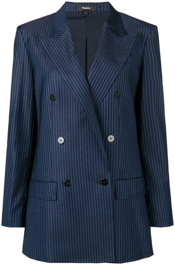 58fc5f5344c Double Breasted Blazer-theory - ShopStyle