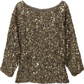 Sequined georgette top