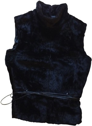 Atos Lombardini Black Fur Knitwear