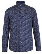 Burton Mens Spitalfields Co Navy Dot Shirt with Liberty Fabric