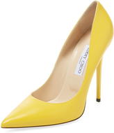 Jimmy Choo Women's Anouk Pointed-Toe Leather Pump