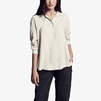 James Perse Micro Suede Shirt