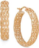Macy's Open Weave Round Hoop Earrings in Italian 14k Gold