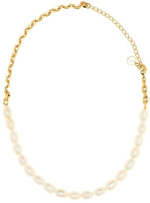 Anissa Kermiche Duel gold-plated pearl necklace