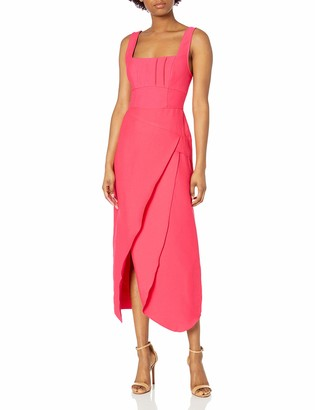 C/Meo Women's Sleeveless Tulip Hem Over Again Midi Dress