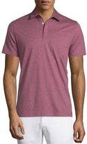 Michael Kors Cotton-Silk Short-Sleeve Polo Shirt