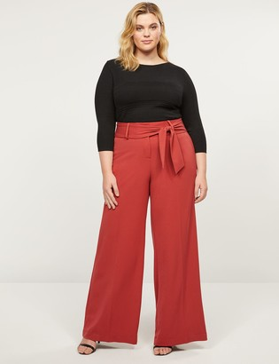 Lane Bryant Tailored Stretch High-Rise Wide Leg Pant