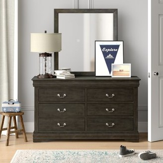 Grove Lane Sophia 6 Drawer Double Dresser with Mirror Grovelane